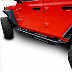 Running Boards Side Steps Rail Steps Rock Sliders for Jeep Wrangler JLU 4dr 2018 up Tube Style