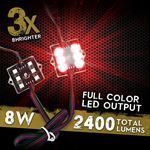 8 Module 48 LED RGB Color Wireless Exterior 4