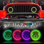 HALO RGB Color Projector LED Headlights for Wrangler JL  Gladiator 2018+
