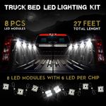 8 Module 48 LED White Exterior Truck Bed Rock 2