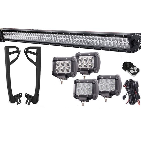 LED Light Bar Combo Kit with Brackets 4