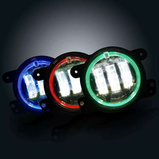 GENSSI 4 INCH LED HALO FOG LAMP LIGHTS FOR JEEP WR