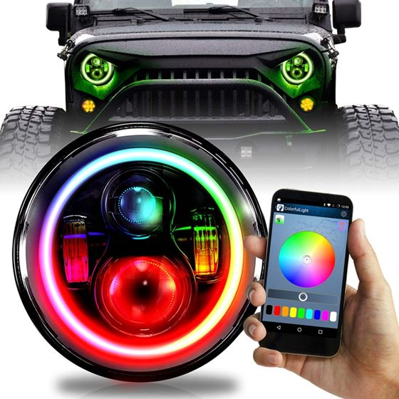 7 INCH ROUND COLOR CHASE RGB HALO WIRELESS PROJECT
