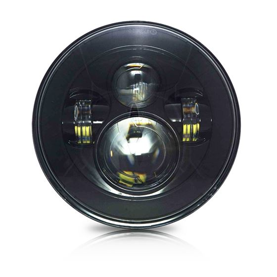"GENSSI 7"" ROUND PROJECTOR LED HEADLIGHT MULTI-BEAM"