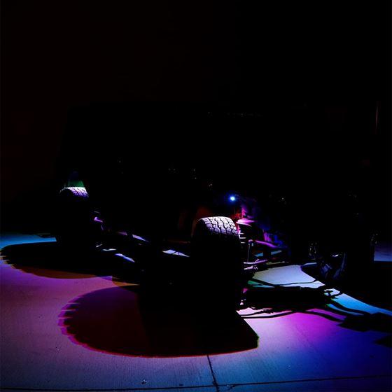 4PC RGB LED COLOR WATERPROOF WIRELESS ROCK LIGHTS4