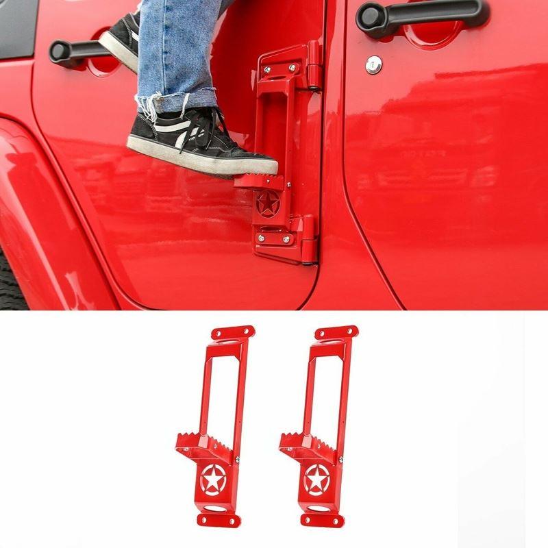 Door Hinges Step Metal Folding Foot Peg for Jeep W