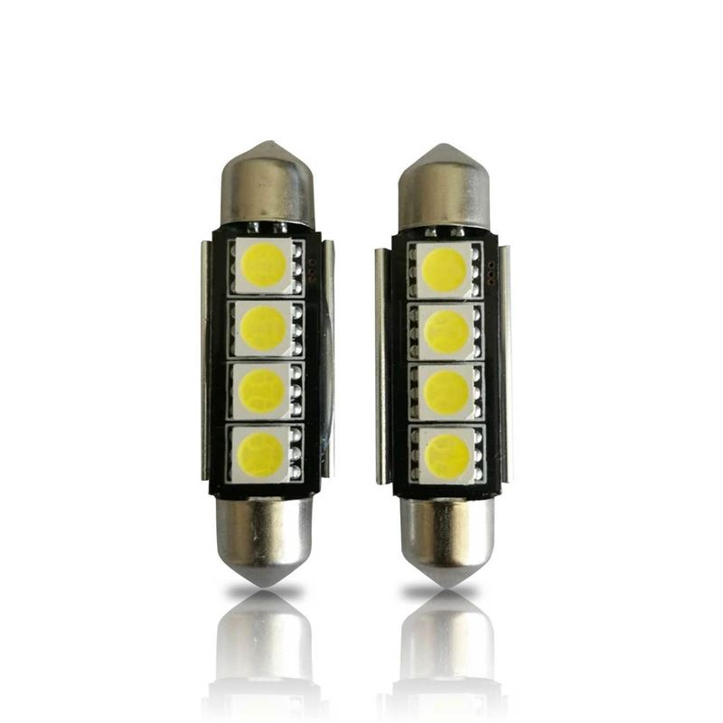 42mm 211-2 578 CANBUS 4-SMD Festoon LED Bulbs (2 P