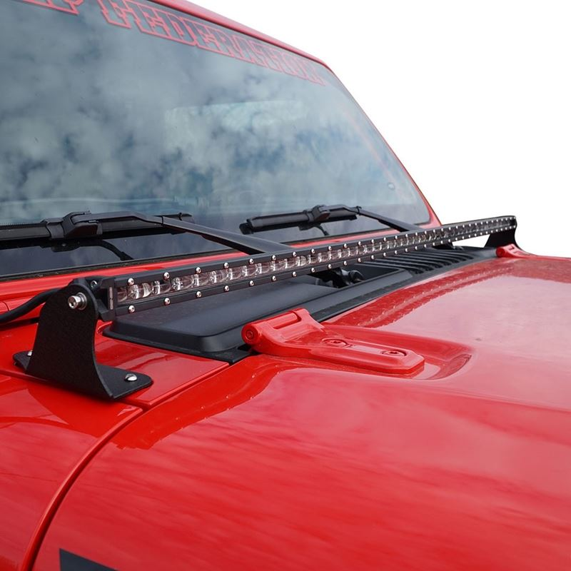 52 Inches LED Hood Mount Light Bar Kit for Jeep Wr