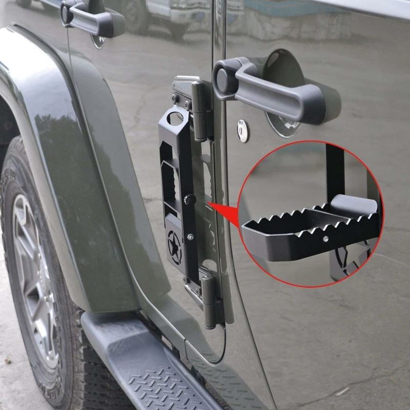 Door Hinge Step Metal Folding Foot Peg For Jeep Wr