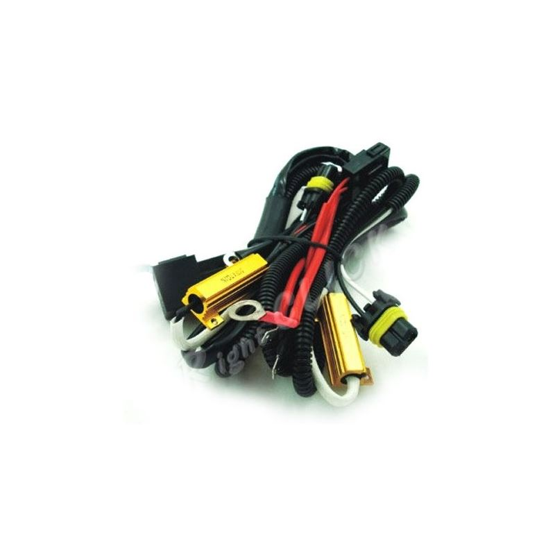HID Kit Wire Relay Harness w/Flicker Plugs