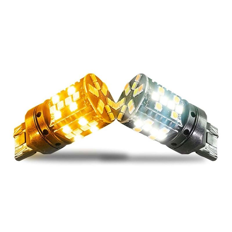 7443 LED No Hyper Flash Amber White Switchback for