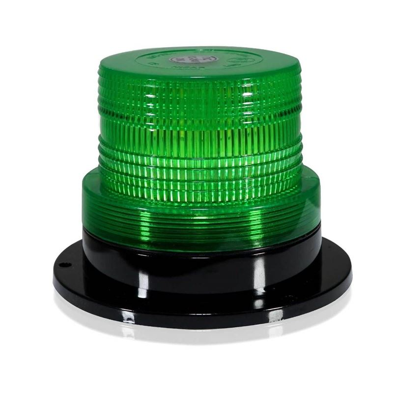 Green LED Emergency Flash Strobe and Rotating Beac