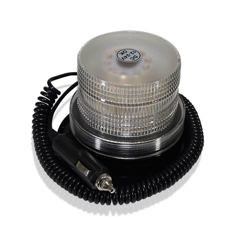 White LED Emergency Flash Strobe and Rotating Beac