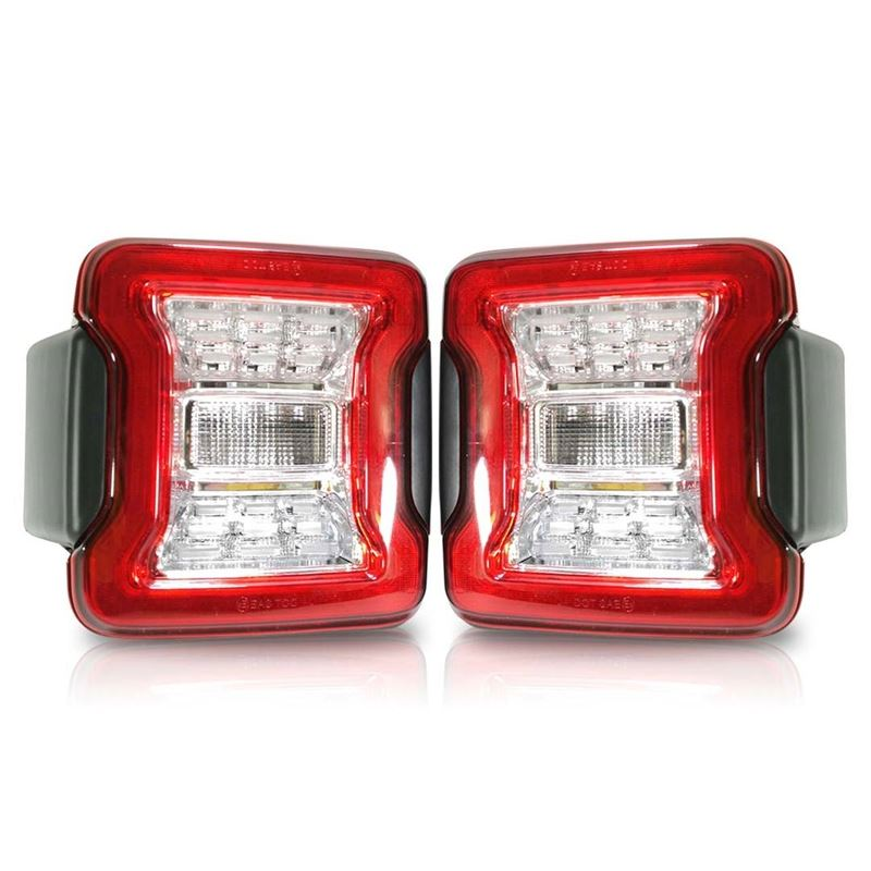 Clear LED Tail Lights for Jeep Wrangler JL 1